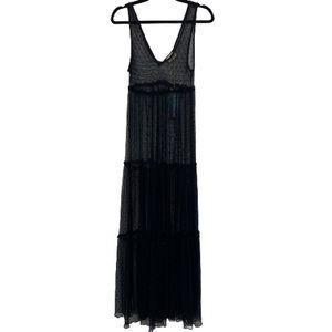 SMYM Sheer Black Maxi Dress Swim Cover Up